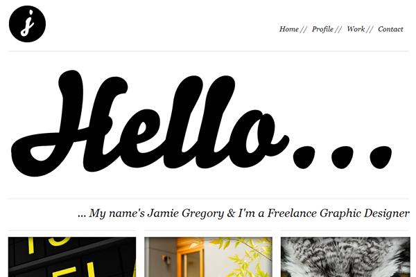 simple portfolio website studio design