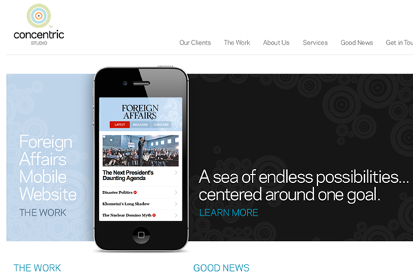 agency design website layout