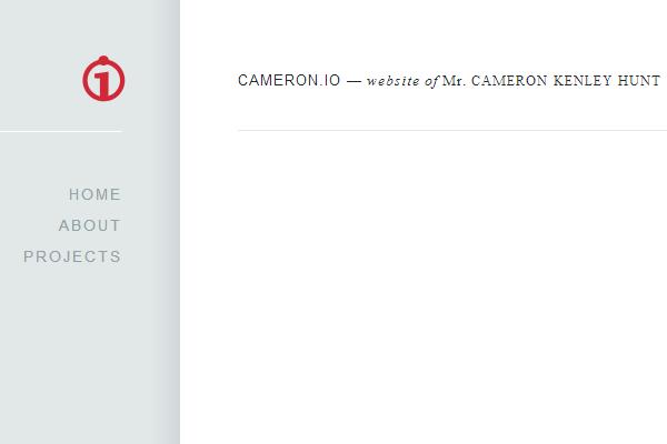 website design portfolio layout Cameron Kenley Hunt