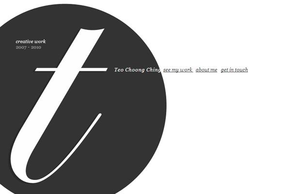creative work website portfolio Teo Choong Ching