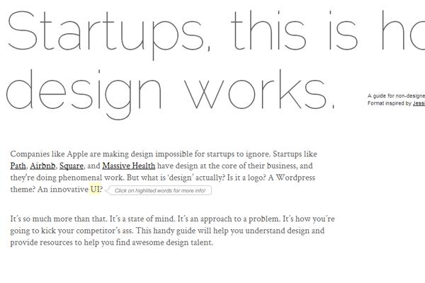 Startups venture capital minimalism web design techniques