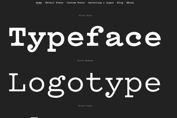 font face logoface typography web design minimalism