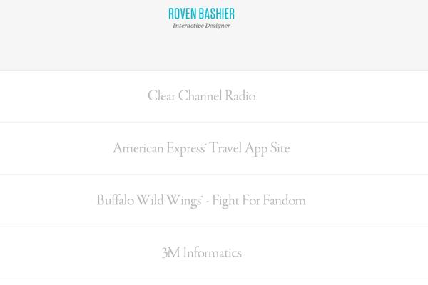 simple minimalist website portfolio design