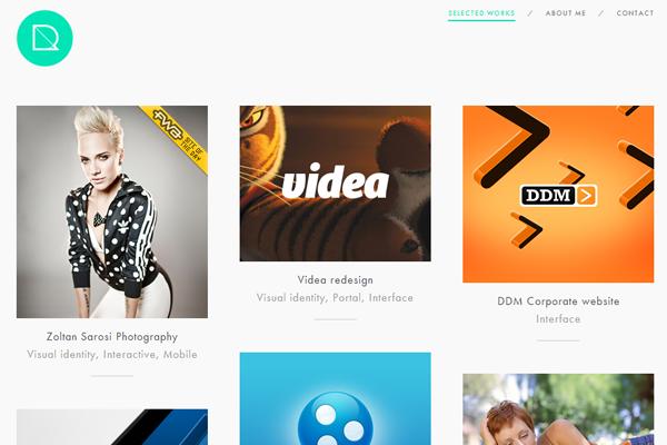 user interface designer portfolio website