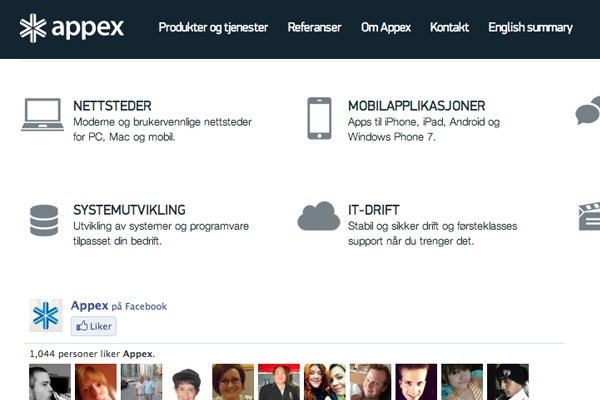 Appex website studio design agency foreign minimal