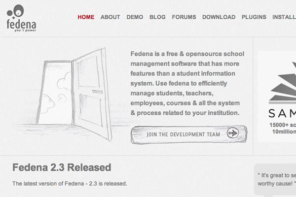 Project Fedena open source website software development