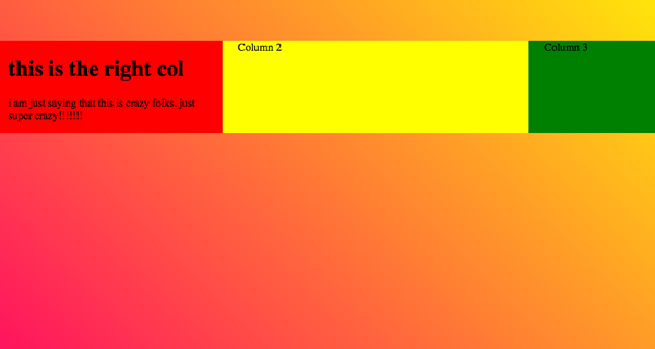 CSS floating container layout matthew james taylor method gist dabblet