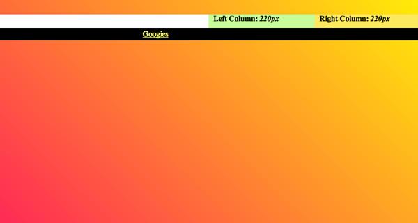 three column layout website design css code techniques