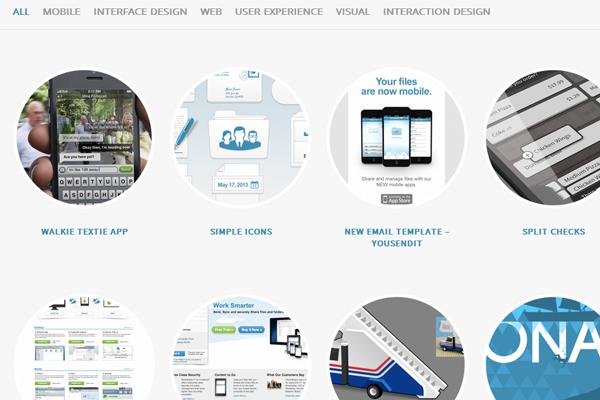 Jonathan Shariat website layout portfolio design