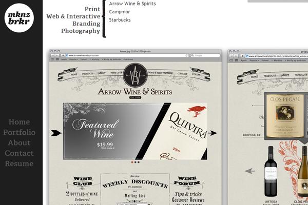 graphics web design portfolio layout barker mack