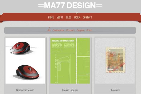 Matt Richardson website layout portfolio design