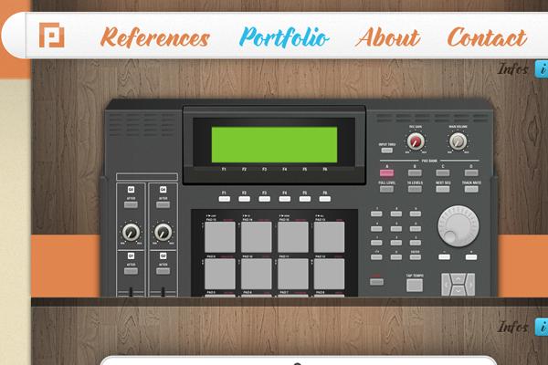 custom website parallax portfolio layout Filip Raatz
