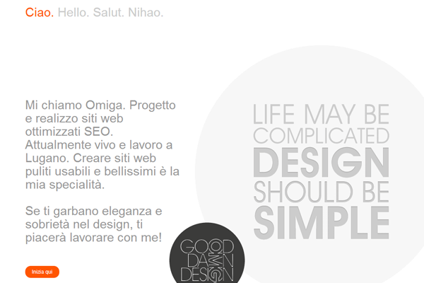 Omiga Pun portfolio design website layout