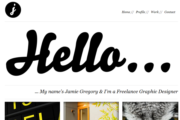 classy whitespace minimalism design portfolio