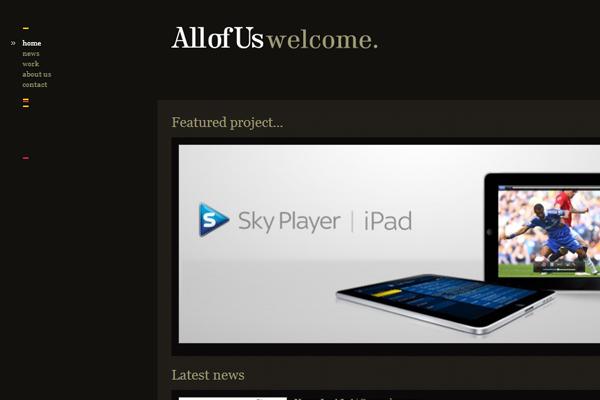 dark website theme layout design interface