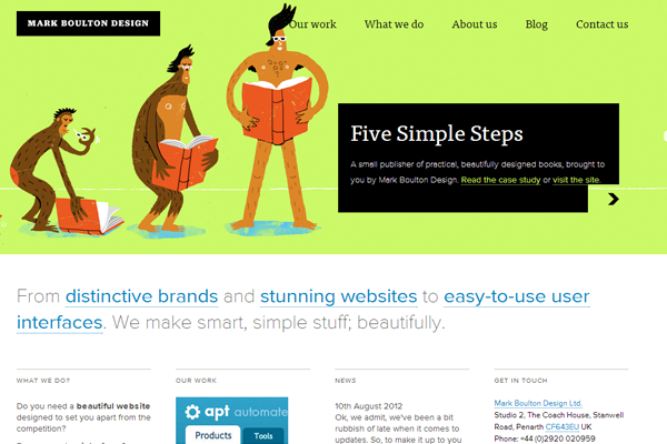classy interface header design website whitespace