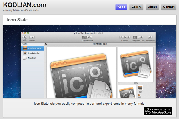 OSX App Store website apps layout whitespace