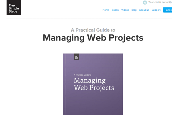 simple steps managing websites book layout