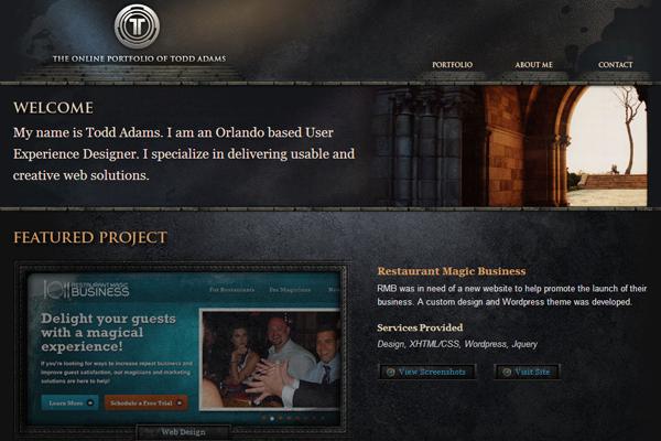 61pixels portfolio todd adams website graphics