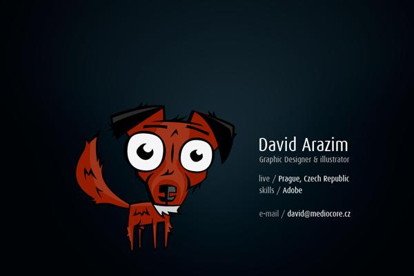 David Arazim Mediocore website portfolio layout