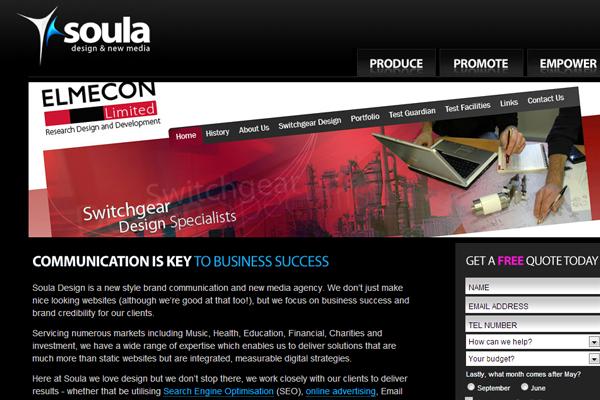 digital marketing agency layout website portfolio