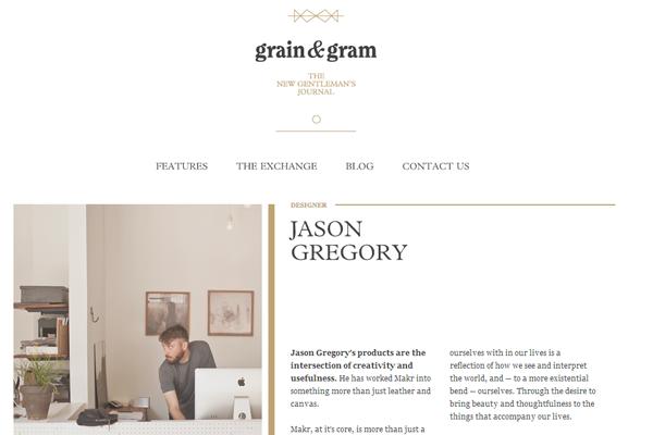 minimal website design interface layout grains
