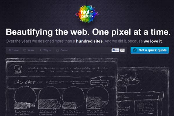dark rainbow website colors theme design