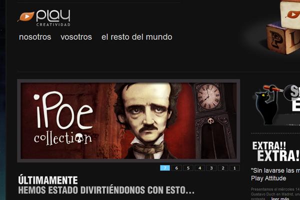 dark play video streaming website layout