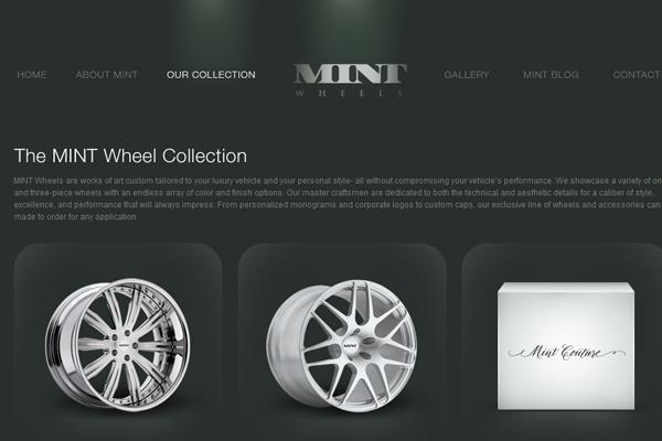 Mint Wheels website interface layout inspiration