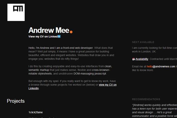 Andrew Mee United Kingdom London portfolio freelance designer