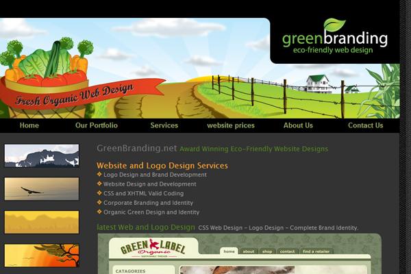 web design agency eco-friendly layout dark themes