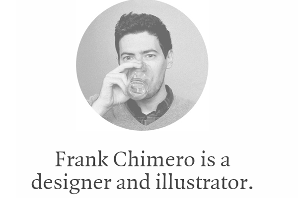 minimal whitespace portfolio Chimero Frank web designer