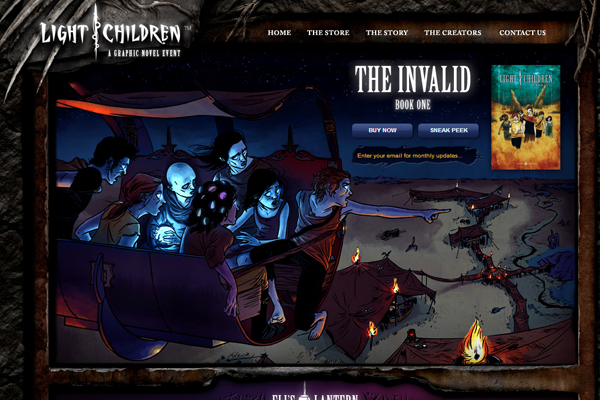 light children website game plot layout inspiring