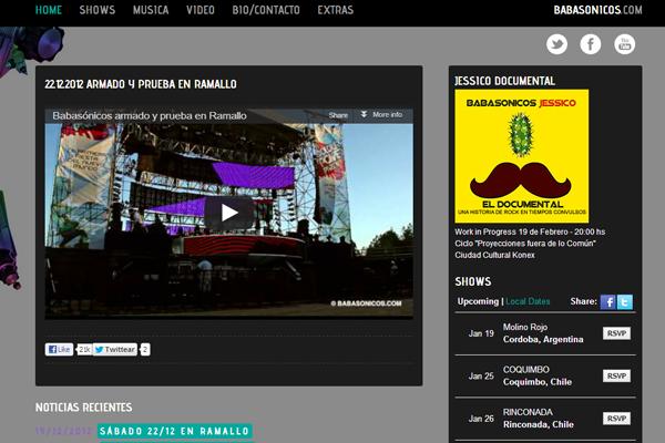 dark theme website interface layout clean links