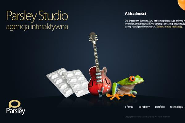 dark portfolio interface studio website layout