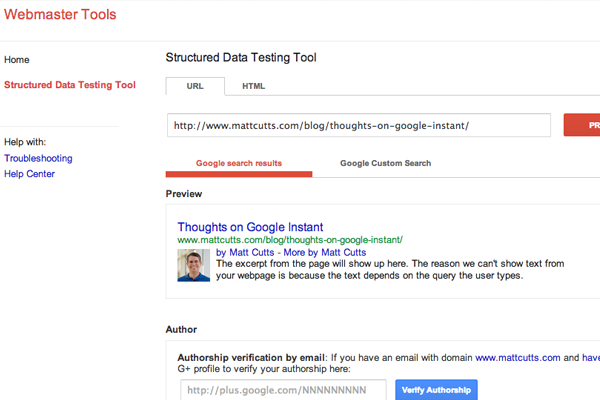 Google structured data too