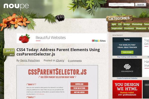 Noupe web design blog magazine inspiration