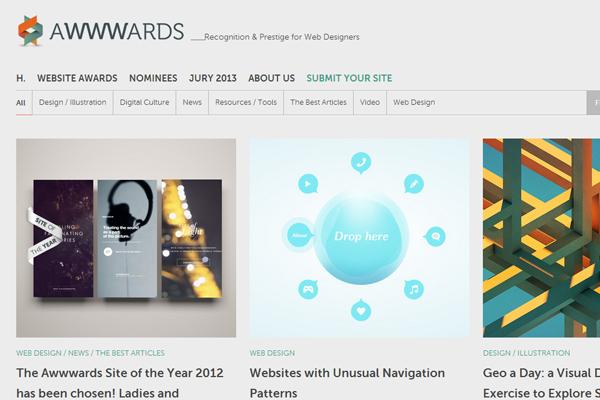 Awwwards web design blog showcase articles