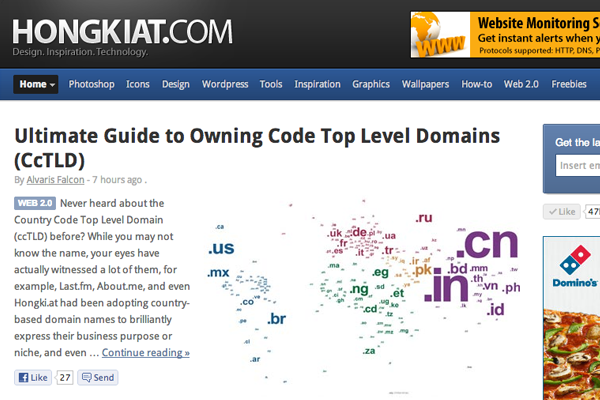 Hongkiat web design blog 2013 redesign layout
