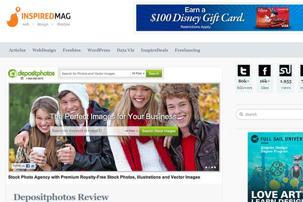 inspire magazine blog website interface inspiration