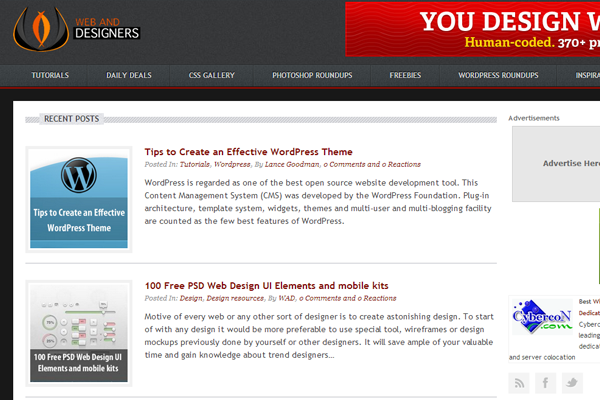 web and designers website layout articles