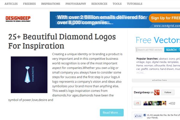 Design Beep website layout 2013 magazine posts
