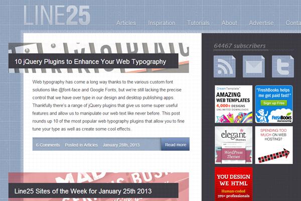 line25 web design blog 2013 chris spooner