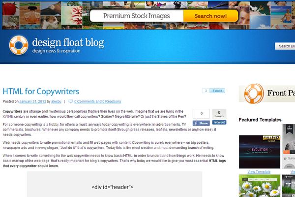 web design blog trends designfloat pligg cms