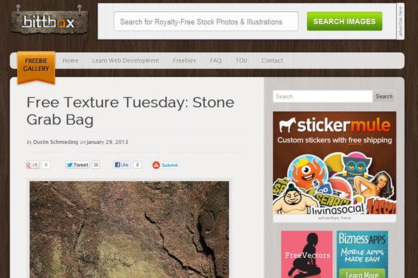 Bittbox website design inspiration magazine