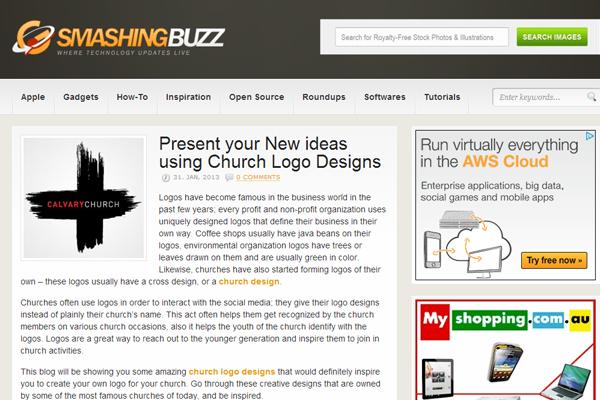 Smashing buzz website layout inspiration