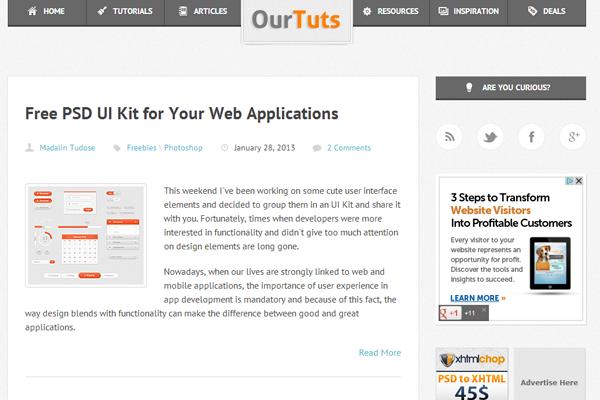 ourtuts web design layout inspiratiomn