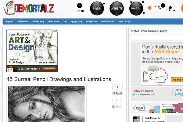 Demortalz web design layout inspiration designs