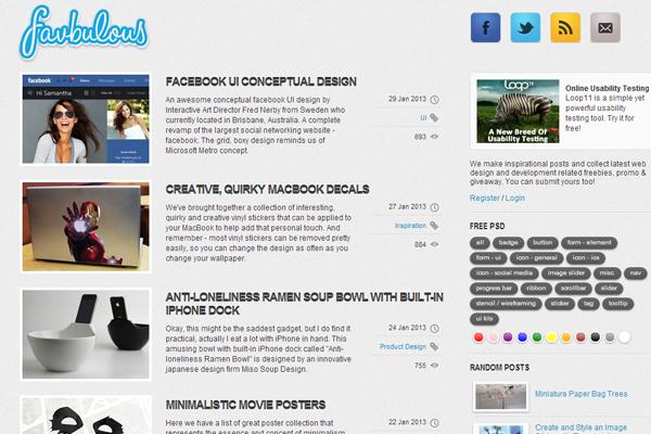 Favbulous web design layout inspiration showcase