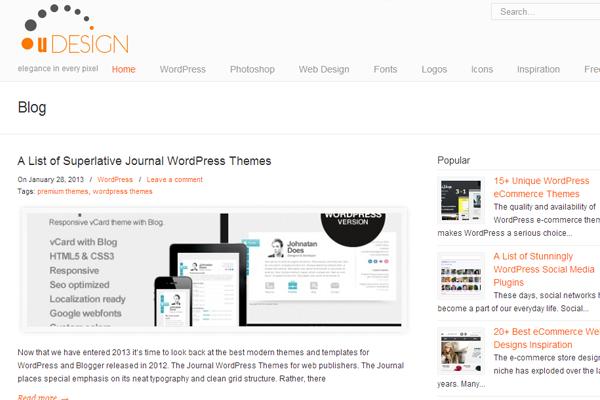 pixeldetail web design blog magazine layouts